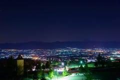 Night View of the Kofu city Stock Photos
