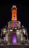 Night view of Konak Square. Historical clock tower Stock Photos
