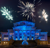 Night view of Konzerthaus in cental Berlin Royalty Free Stock Photo