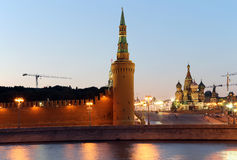 Night view of the Kremlin, Moscow, Russia--the most popular view of Moscow Stock Photo