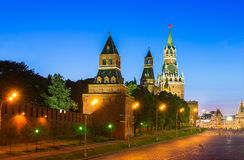 Night view of Kremlin and Red Square in Moscow Royalty Free Stock Photo