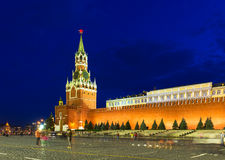Night view of Kremlin and Red Square in Moscow Stock Photography