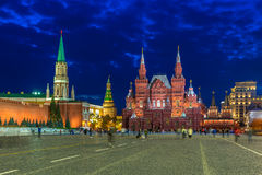 Night view of Kremlin and Red Square in Moscow Royalty Free Stock Image