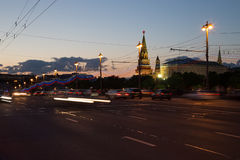 Night view of the Kremlin, Russia, Moscow Royalty Free Stock Photography