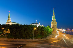 Night view of the Kremlin, Russia, Moscow Stock Image