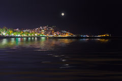 Night view of Kusadasi Turkey Stock Photo