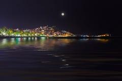 Night view of Kusadasi Turkey. Travel background Stock Photo
