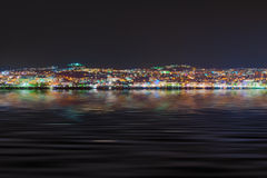 Night view of Kusadasi Turkey Stock Photography