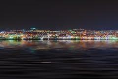 Night view of Kusadasi Turkey. Travel background Stock Photography