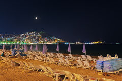 Night view of Kusadasi Turkey. Travel background Royalty Free Stock Images