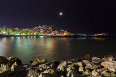 Night view of Kusadasi Turkey Royalty Free Stock Images