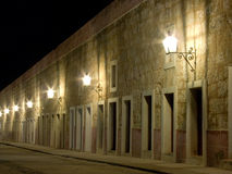 Night view, La Cabaña Fortres. Night view of La Cabaña Fortress, in Havana, Cuba Royalty Free Stock Images
