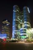 Night view of  La Défense. Royalty Free Stock Photos
