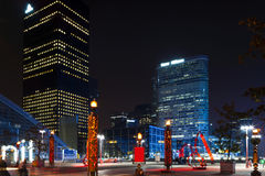 Night view of La Défense. Stock Photography