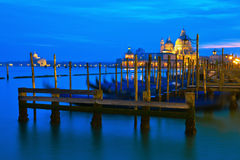 Night view of the lagoon ov Venice Royalty Free Stock Photos