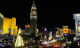 Night view of las vegas Royalty Free Stock Image