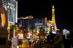 Night view of las vegas Royalty Free Stock Photos