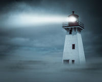 Night view Lighthouse  Stock Photo