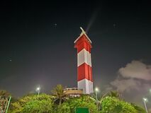 Night view of lighthouse