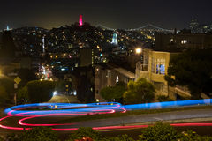 Night View from Lombard Street Stock Photos