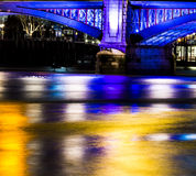 Night View London Bridge Royalty Free Stock Image