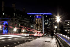 Night View London Bridge Royalty Free Stock Photos