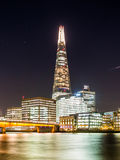 Night view of London Bridge and the Shard Stock Photo