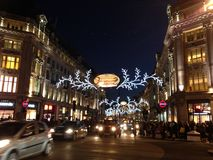 Night view of London at Christmas Stock Photo