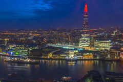 Night view of London cityscape Stock Photo