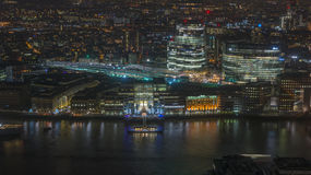 Night view of London cityscape Stock Images