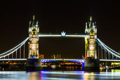 Night View London Tower bridge Royalty Free Stock Photos