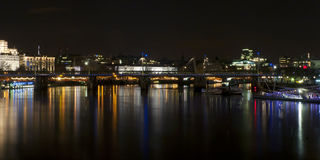 Night view of London. From Westminster Bridge Royalty Free Stock Image