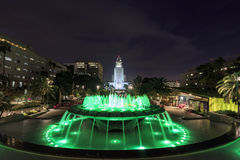 Night view of Los Angeles City Hall Royalty Free Stock Photography