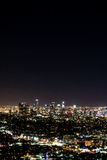 Night view of Los Angeles Royalty Free Stock Photo