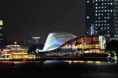 Night view of Lujiazui down town Stock Photography