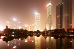 The night view of the lujiazui financial centre Royalty Free Stock Photo
