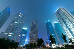 The night view of the lujiazui financial centre Royalty Free Stock Photography