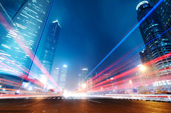 The night view of the lujiazui financial centre Royalty Free Stock Image