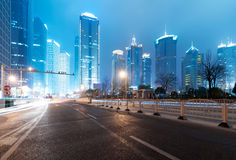 The night view of the lujiazui financial centre Stock Photo