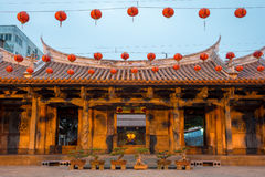 Night view of Lung shan temple Stock Photo