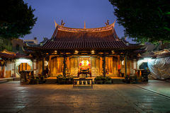 Night view of Lung shan temple Stock Image