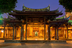 Night view of Lung shan temple Royalty Free Stock Photography