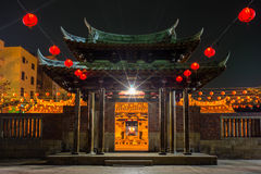 Night view of Lung shan temple Stock Photos