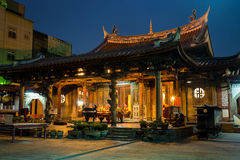 Night view of Lung shan temple Royalty Free Stock Image