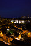 Night view of Luxembourg with street lights Royalty Free Stock Photography