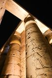 Luxor Temple - Egypt. Night view of Luxor Temple Luxor, Egypt stock images
