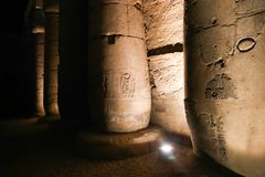 Luxor Temple - Egypt. Night view of Luxor Temple Luxor, Egypt stock photo