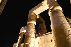 Luxor Temple - Egypt. Night view of Luxor Temple Luxor, Egypt stock photography