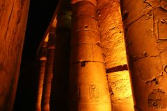 Luxor Temple - Egypt. Night view of Luxor Temple Luxor, Egypt royalty free stock image