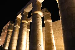Night view of Luxor Temple Stock Images